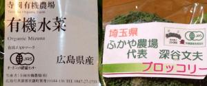 大地を守る会(旧:大地宅配)のお試しセットに入っている有機野菜