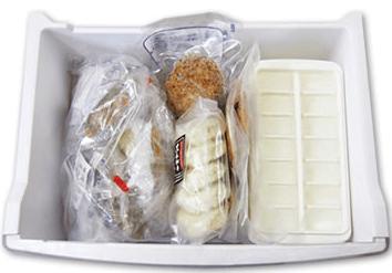 食事セットの冷凍保管状態