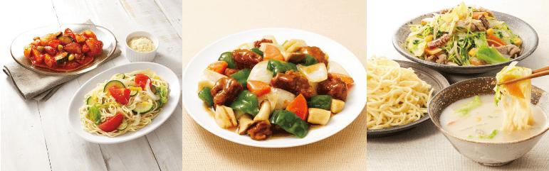 らでぃっしゅぼーやの料理キット「私が仕上げる10分キット」調理例