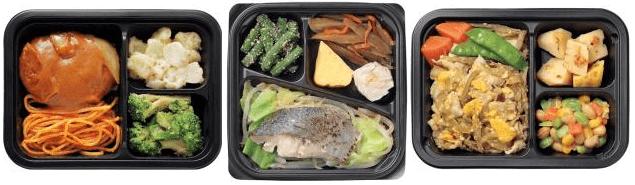 夕食ネット(ヨシケイ)の冷凍弁当(おかず)「楽らく味彩」