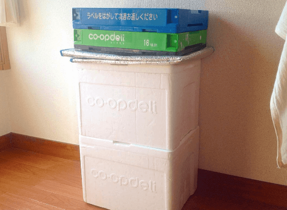 生協・コープデリの留め置き(折りたたんだ状態)