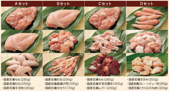 らでぃっしゅぼーやの準定期品「国産若鶏コース・バラエティセット」