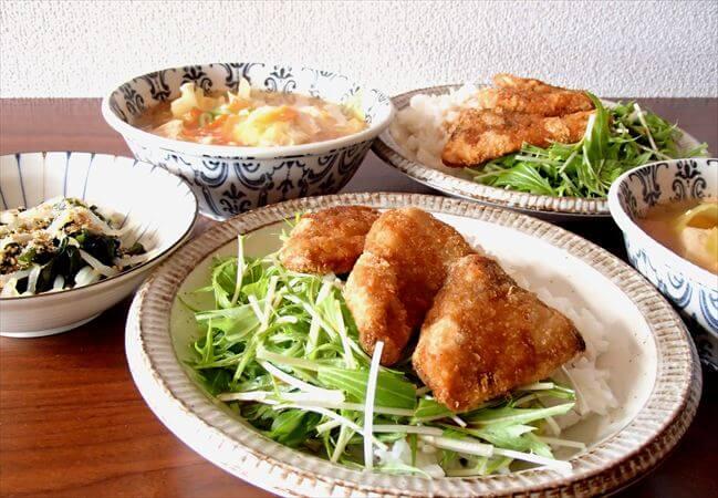夕食ネット(ヨシケイ)の料理キットで作ったブリカツ丼