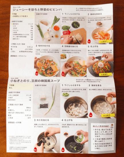 オイシックス「料理キット」のレシピの内容