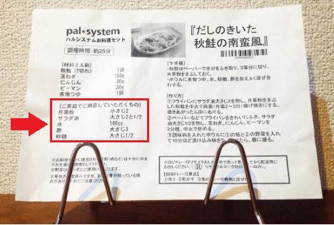 パルシステムの料理セット「だしのきいた秋鮭南蛮風」のレシピ