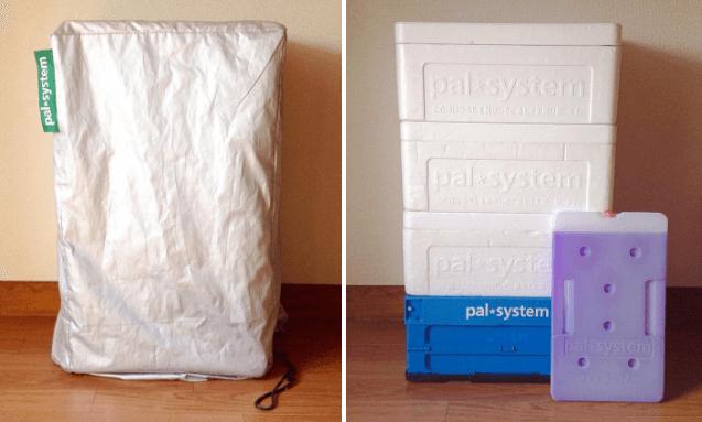 パルシステムのお届け箱と日よけカバー