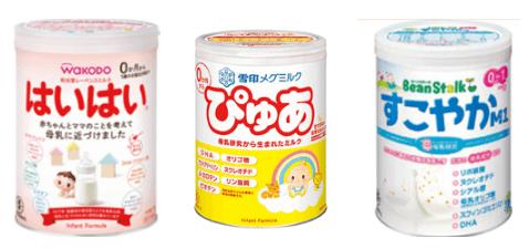 パルシステムで買うことができる粉ミルク
