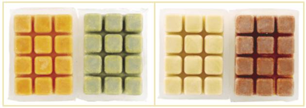 パルシステムのバランスキューブ「黄・緑」と「赤・白」
