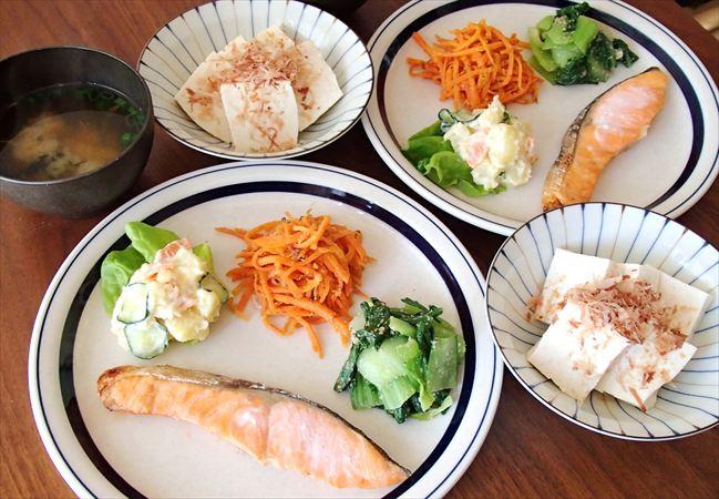 大地を守る会の野菜で作った夕食