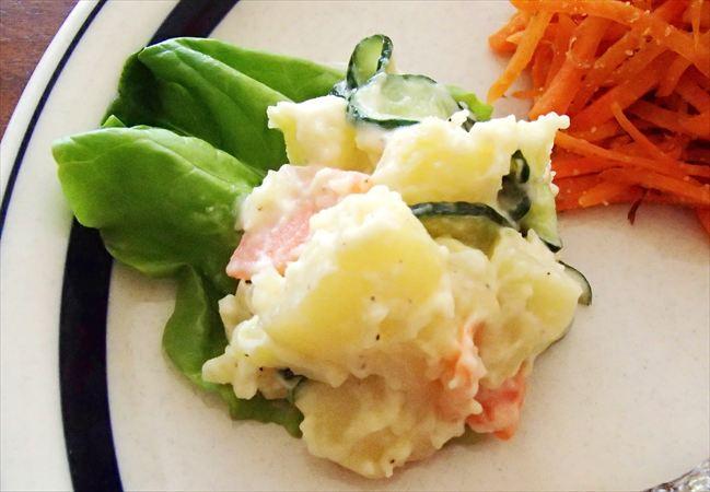 大地を守る会(大地宅配)の野菜で作ったポテトサラダ