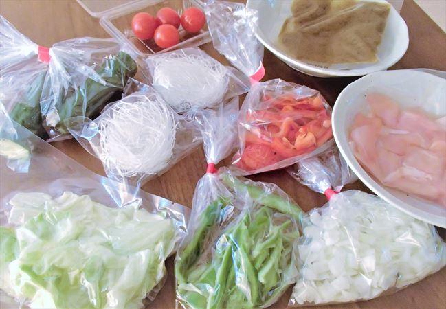 大地を守る会(大地宅配)の料理キットにはいっている食材
