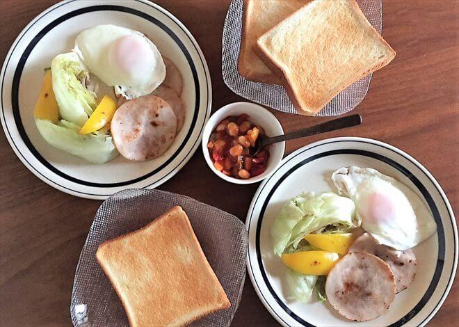パルシステム「ボンレスハム」を焼いて朝食