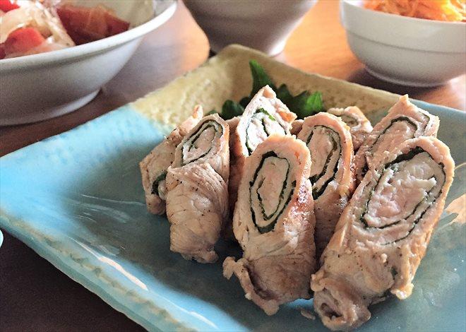 豚肉の大葉チーズぐるぐる巻き(パルシステム/日本のこめ豚を使用)