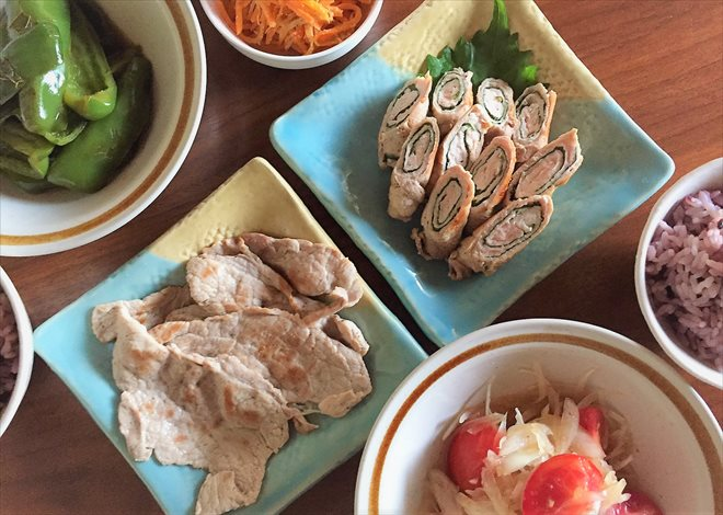 パルシステム/日本のこめ豚を使った食事