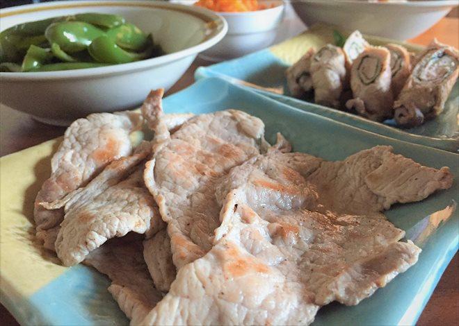 豚の塩コショウ焼き(パルシステム/日本のこめ豚を使用)