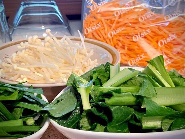 kit oisix・ジューシそぼろのビビンバの野菜