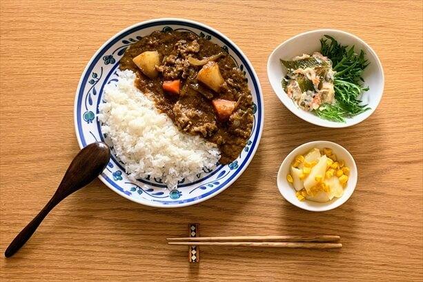 わんまいるの食事セット(ビーフカレー)